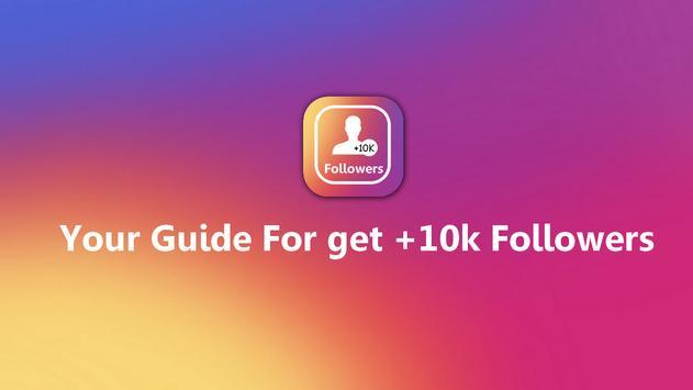 10k instagram followers Tips poster