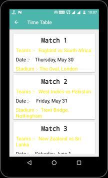 world cup 2019 (England) screenshot 3