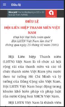 Điều lệ Hội Liên hiệp Thanh niên Việt Nam apk screenshot