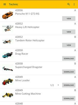 Brick Instructions - Technic and Creator apk screenshot