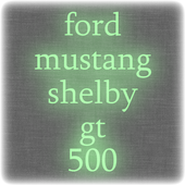 ford mustang shelby gt 500 icon