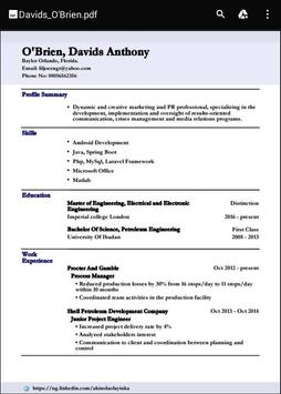 resume builder app for android professional resumes