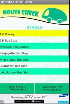 Hyderabad Bus RouteCheck - RTC screenshot 5