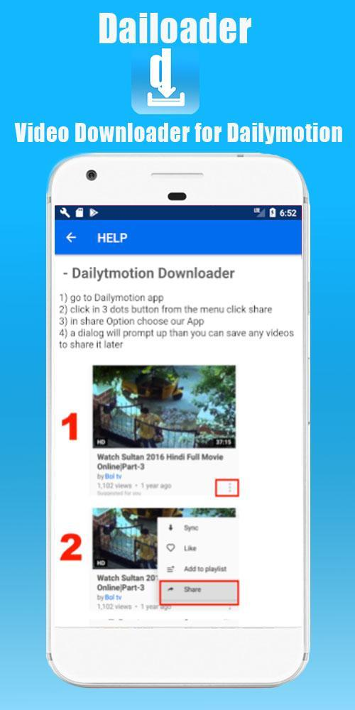 Dailoader - Video Downloader for Dailymotion for Android