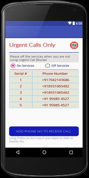 urgent calls only screenshot 1