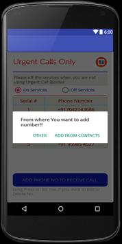urgent calls only screenshot 2