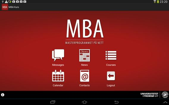 MBA Course poster