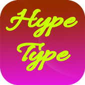 Hype Type App for android Zeichen