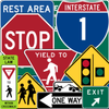 US Traffic and Road Signs आइकन