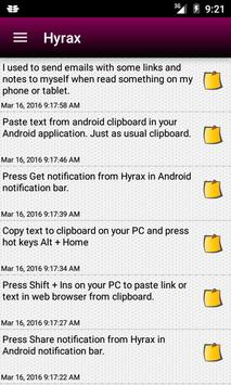 HyraxHub Share clipboard w/ PC apk screenshot