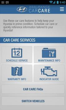 Hyundai Car Care apk screenshot