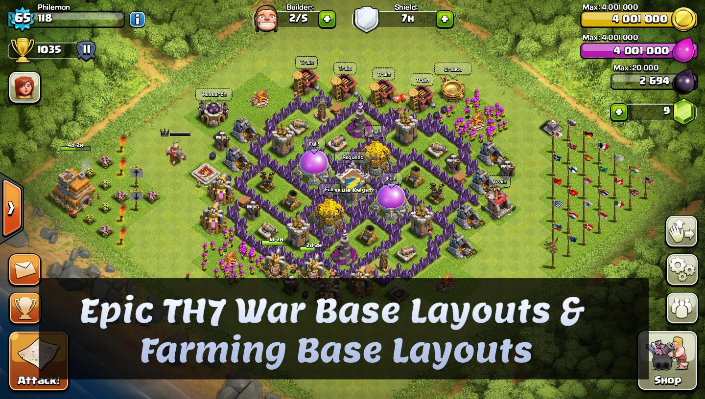 Base Layout For COC TH7 for Android - APK Download