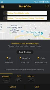 Hack Cabs Customer screenshot 2