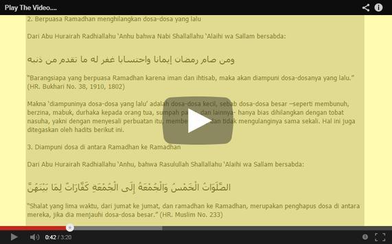 Hadits-Hadits Ramadhan apk screenshot