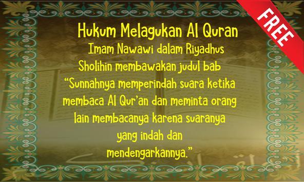 Hukum Melagukan Al Quran apk screenshot