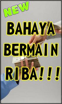 Hadist Bermain Riba poster
