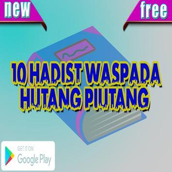 Hadist Waspada Hutang Piutang poster