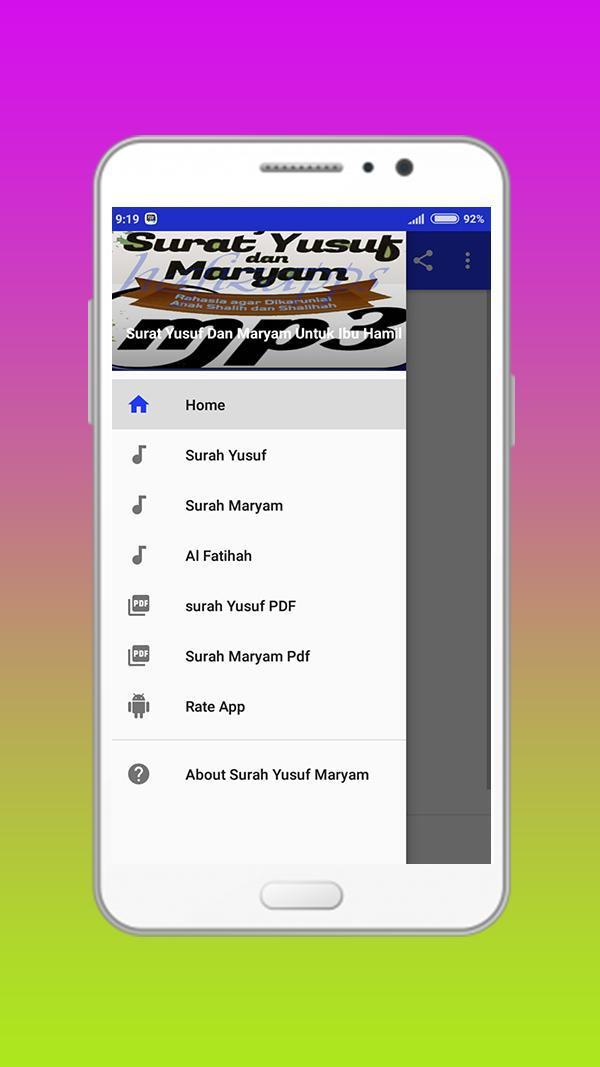 Surat Yusuf Dan Maryam Untuk Ibu Hamil For Android Apk