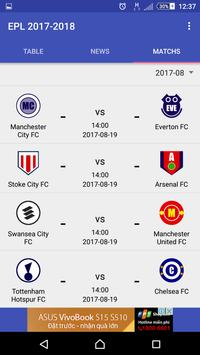 Premier League Table 2017 18 For Android Apk Download