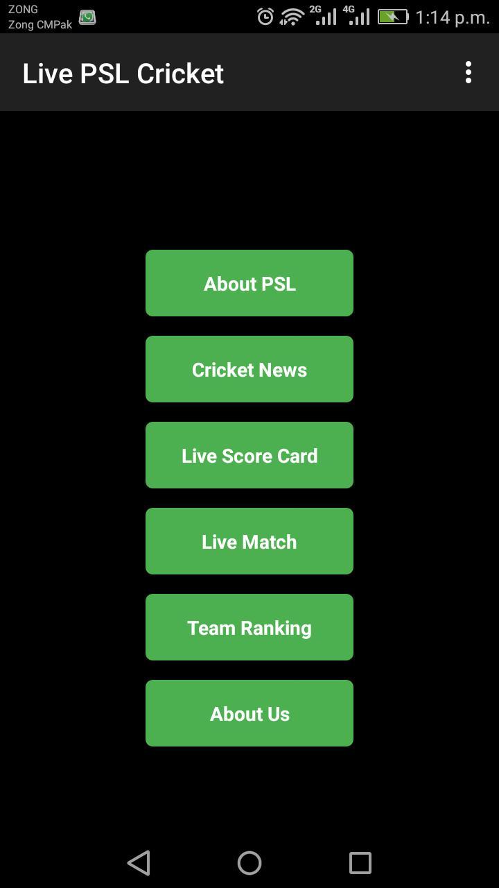 PSL Live Cricket poster