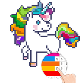 Unicorn: Color By Number Pixel Art icon