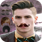 Man Mustache and Hairstyle color changer salon icon