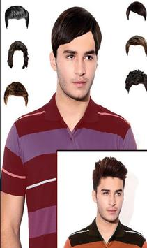 Man Mustache and Hairstyle color changer salon poster