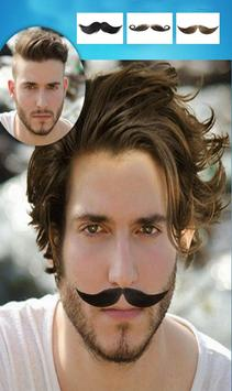 Man Mustache and Hairstyle color changer salon screenshot 10