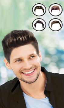 Man Mustache and Hairstyle color changer salon screenshot 1