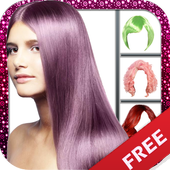Hair color changing app icon