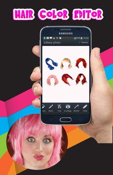 Hair color changing app poster