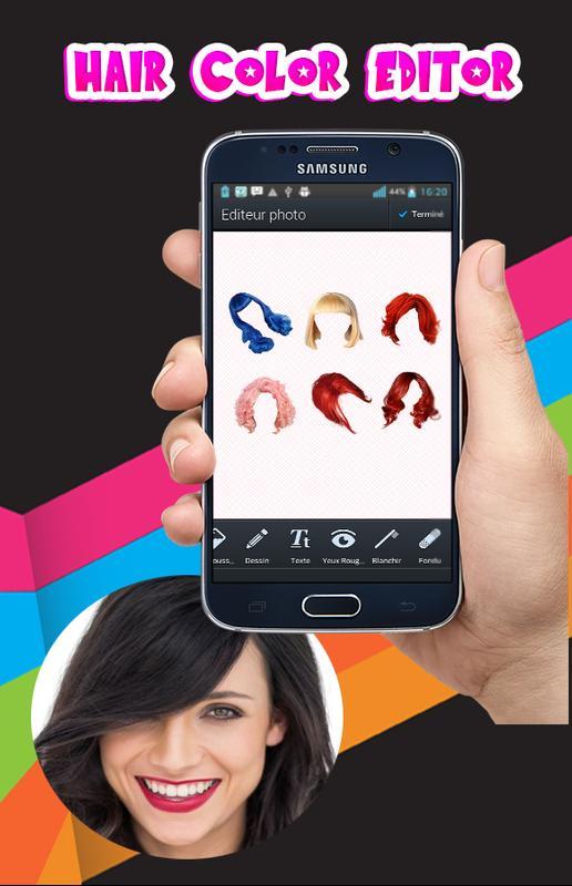 hair color changing app for android apk download. Black Bedroom Furniture Sets. Home Design Ideas