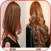 Hair Extensions Before & After icon