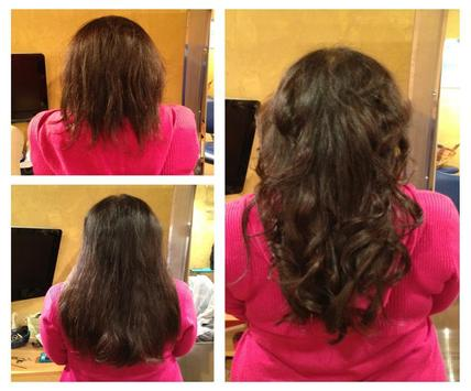 Hair Extensions Before & After poster