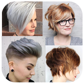 Cool Short Hairstyles App For Girls icon