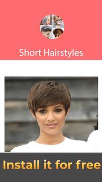Cool Short Hairstyles App For Girls apk screenshot