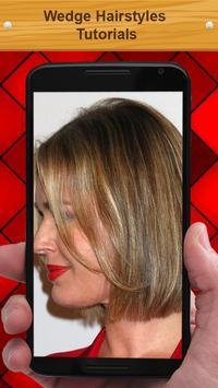 Wedge Hairstyles Tutorials apk screenshot