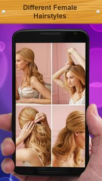 Different Female Hairstyles apk screenshot