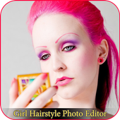 girl hairstyle photo editor icon
