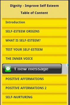 Dignity - Improve Self Esteem poster