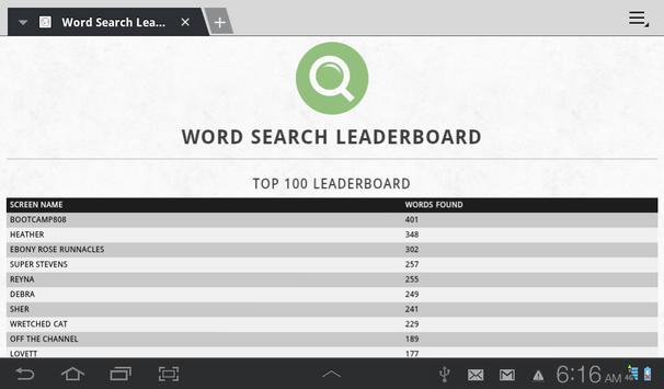 Wall Street Word Search AMEX apk screenshot