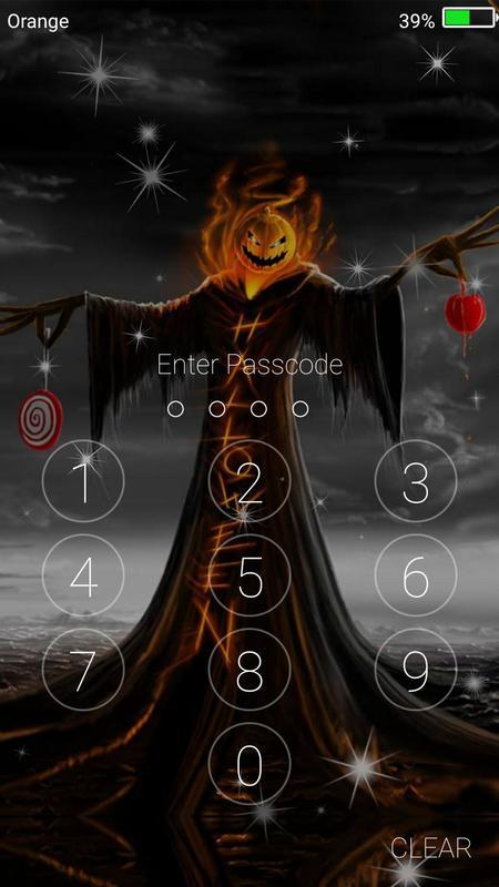 halloween monster live wallpaper lock screen poster