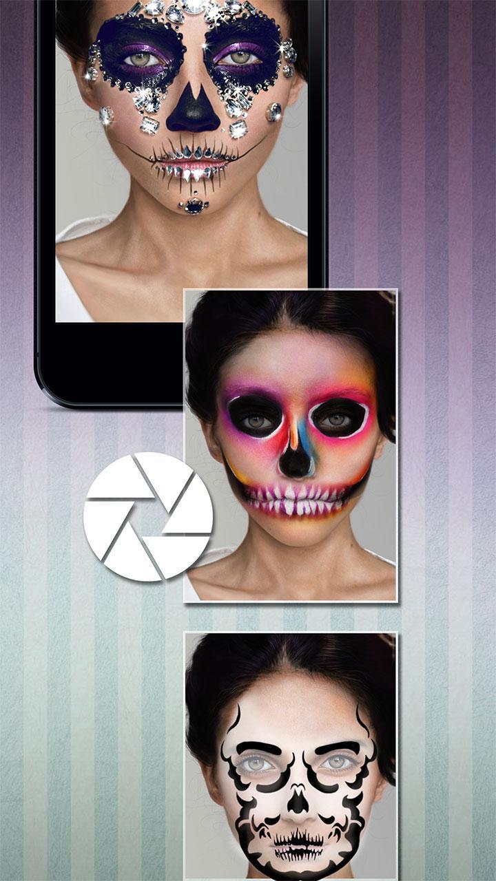 Halloween Schminke Skelett Für Android Apk Herunterladen