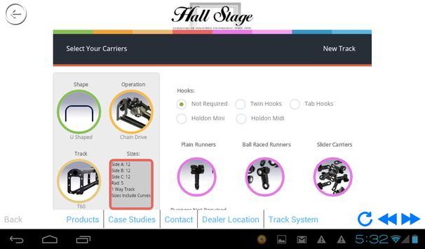 Hall Stage Track Pricer apk screenshot
