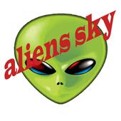 aliens sky icon