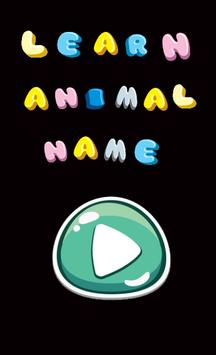 learn animal names in french poster