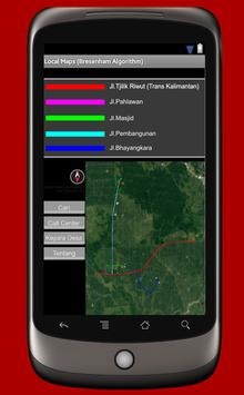 Local Maps Desa Hampalit poster