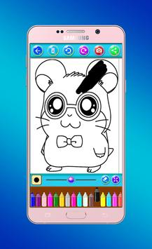 hamster coloring book screenshot 4