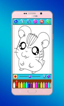 hamster coloring book screenshot 5