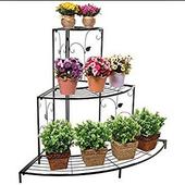 iron flower pot shelf icon